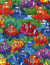 Timeless Treasures Fabrics Clown Fish Cotton Flannel Multi
