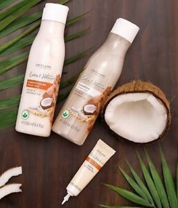 ORIFLAME LOVE NATURE WHEAT & COCONUT OIL DRY HAIR SHAMPOO CONDITIONER HOT OIL