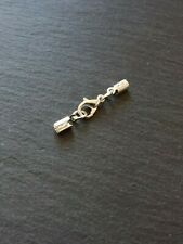 6 Sets Silver Plated Crimp Ends for 2mm to 2.5mm Cord & 10mm Lobster Clasps UK