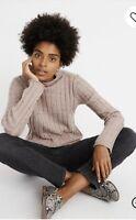 Madewell M Medium Donegal Evercrest Turtleneck Sweater in Coziest Yarn NWT $75