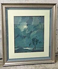 Mid Century Framed Oil Painting Milton R. Newman dated 1966 California