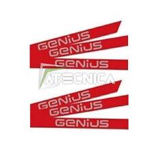 Kit adesivi universali catarifrangenti rossi GENIUS 6100201 per aste barriere