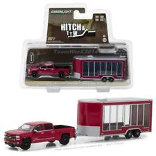 GREENLIGHT 32120 B 2016 CHEVROLET SILVERADO TRUCK & DISPLAY TRAILER DIECAST 1:64