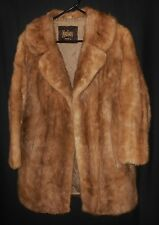 Vtg. Mink Fur Coat Koslows Fort Worth Very Nice Medium