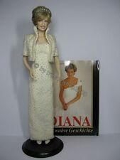 n39) Porzellan Porträt Puppe Figur Franklin Mint Lady Diana Di Princess of Wales