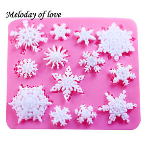 Snowflakes snow Silicone Mould Mold Cake Icing Xmas Decoration Christmas M218