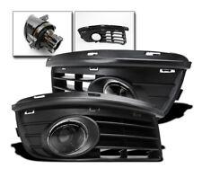 VW 2006-2010 JETTA MK5 PROJECTOR LOWER DRIVING CLEAR FOG LIGHT LAMP+BLACK COVERS