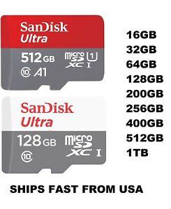 Sandisk Micro SD Card Ultra Memory Card 32GB 64GB 128GB 512GB 1TB Wholesale lot