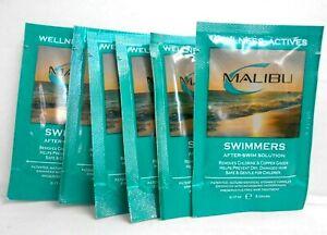 MALIBU WELLNESS ACTIVES ~ SWIMMERS AFTER SWIM SOLUTION ~ 6 PACK ~ 0.17 fl. oz.!!