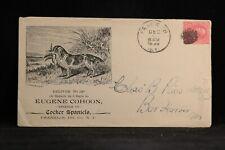 New York: Franklin 1898 Cocker Spaniel Breeder Dog Advertising Cover