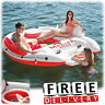 Inflatable Party Island Person River Lake Family Raft Water Floating Lounge
