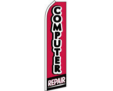 Computer Repair Red/Black/White Swooper Super Feather Advertising Marketing Flag