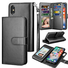 For iPhone 11 Pro Max /Xs Max /Xs/ Xr Leather Wallet Credit Card Flip Case Cover