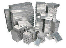 NEW 100 Assorted Mix Silver Cotton Filled Jewelry Gift  Boxes