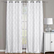 Elegant Paisley Thermal Blackout Jacquard Grommet Top Curtain Panels Pair