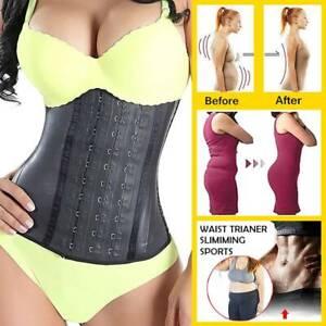 Women Latex Waist Trainer Sweat Trimmer Girdle Belts Slim Long Torso Body Shaper