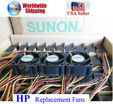Pack 3x Replacement Fans HP ProCurve 2510G-48 J9280A Low noise best HomeNetwork