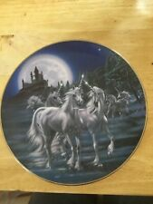 Franklin Mint Royal Doulton Unicorn Plate : Gathering of the Unicorns 5586