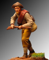Confederate infantry private Gettysburg 54mm Tin Painted Toy Soldier | Art