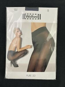 Wolford NWT Cobalt Blue Pure 50 Tights Size S