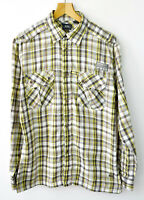 G-STAR RAW Men's Checked Shirt  XL Casual Poly Cotton Long Sleeved Button Up Top