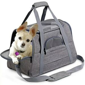 Pet Carrier Dog Cat Breathable Bag Comfort Travel Airline Tote Transport Cage