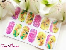 """Nail Art Self Adhesive Full Nail Polish Wraps Stickers """"Tinkerbell"""" Decals Y205"""