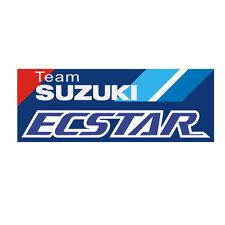 Sticker plastifié TEAM SUZUKI ECSTAR - MOTO GP GSX-RR - 4,5cm x 12cm