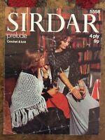 Womens crochet patterns.shawl.wrap.knitted shawl.4 ply.Sirdar.