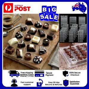 Polycarbonate Chocolate Mould 3D Fondant Baking Mold Tray Candy Cake Jelly AUZ