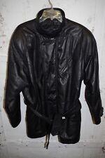Mens M Black Leather Jacket Pelle Studio Zip Up Coat Belt