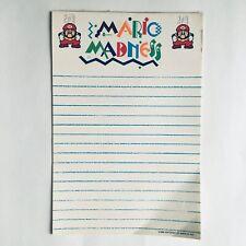 Super Mario Bros Mario Madness Notepad Vintage 1989 Rare OOP Nintendo 8 Pages