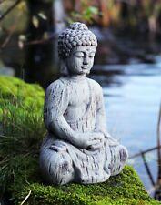 Garden Ornament Buddha kneeling Ceramic Drift Wood Effect Outdoor Statue