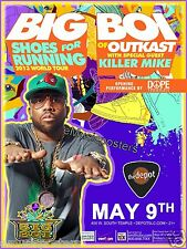 "Big Boi ""Shoes For Running 2013 Tour"" Salt Lake City Concert Poster-Outkast"