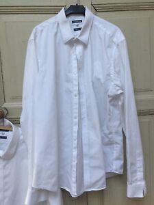 "Limehaus white shirt 16"" collar extra slim fit"