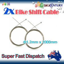 2x MTB Shift Cable Inner Crimp Bicycle Cycling Gear Speed Inner Wire line 2M