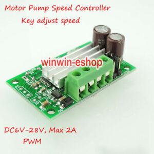 DC 6v 12v 28v 2A Motor Speed PWM Regulator Module Schalter MCU Controller