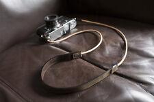 De cuero marrón Correa De Cuello Para Rf Film Cámara Digital Nex Gx1 E-p X10 J1 Leica