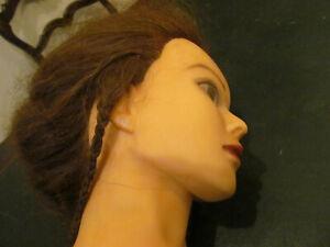 buste tête femme coiffure vintage