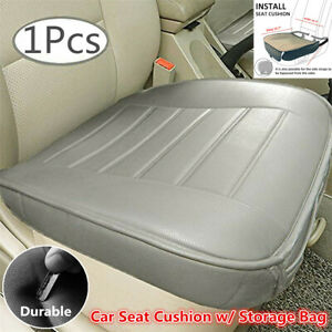 1Pcs Gray PU Leather Car Seat Cover Driver Front Cushion Protector For Seasons
