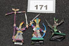 Juegos taller Warhammer elfos alto comando Figuras De Metal Lote De Trabajo Wardancer fuera de imprenta