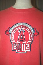 2002 Los Angeles Angels of Anaheim Large World Series T-Shirt (Champs Champions)