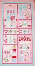 Sweet Shoppe Panel Cotton Quilting Fabric - 60cm x 110cm - Benartex