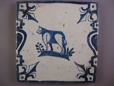 Antique Dutch animal Tile mythical creatures rare 17th-c - free shipping