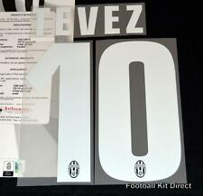 Juventus Tevez 10 2013/14 Football Shirt Name/Number Set Kit Home Serie a