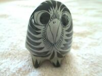 Vintage Signed MEXICO Owl Ceramic Figure, Hand Painted.