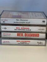Neil Diamond 4 Cassette Tape Lot Christmas, Best of Times, Primitive  Untested