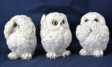 Owl Babies See No Evil, Hear No Evil, Speak No Evil Home Decor Wildlife Figurine