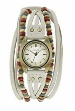 Kahuna KLS-0202L Ladies Cream Beaded Multi Thong Watch