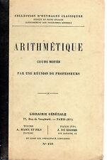ARITHMETIQUE Cours moyen, Librairies Générale-Mame-De Gigord